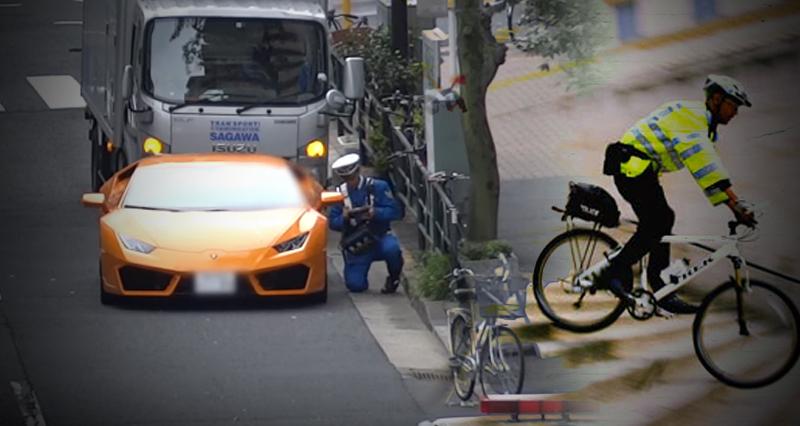 lamborghini policia en bicicleta