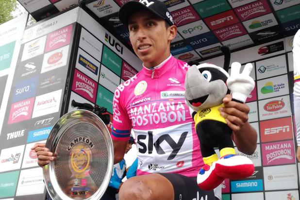 Egan Bernal, campeón de la carrera Colombia Oro y Paz.