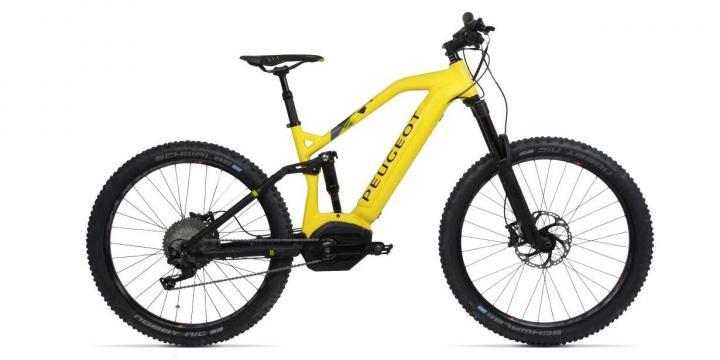 Así sería la versión amarilla de la Peugeot eM02 FS Powertube. Imagen: motor.com.co