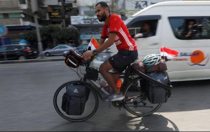Serán tres los continentes que atravesará el egipcio en su bici: África, Asia y Europa