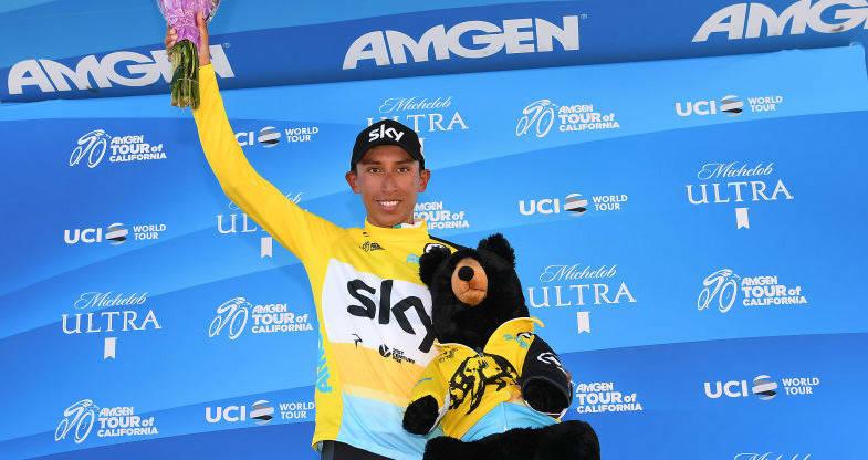 Egan Bernal se coronó campeón del Tour de California, su primer título en el World Tour.