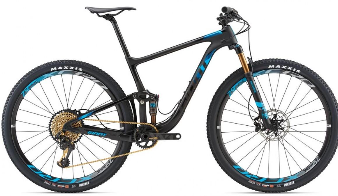 La Giant Anthem 29, diseñada para competencias XC o Maratón se compone de 90 mm atrás y 100 adelante. La bici ideal para superar tramos de altas velocidades.