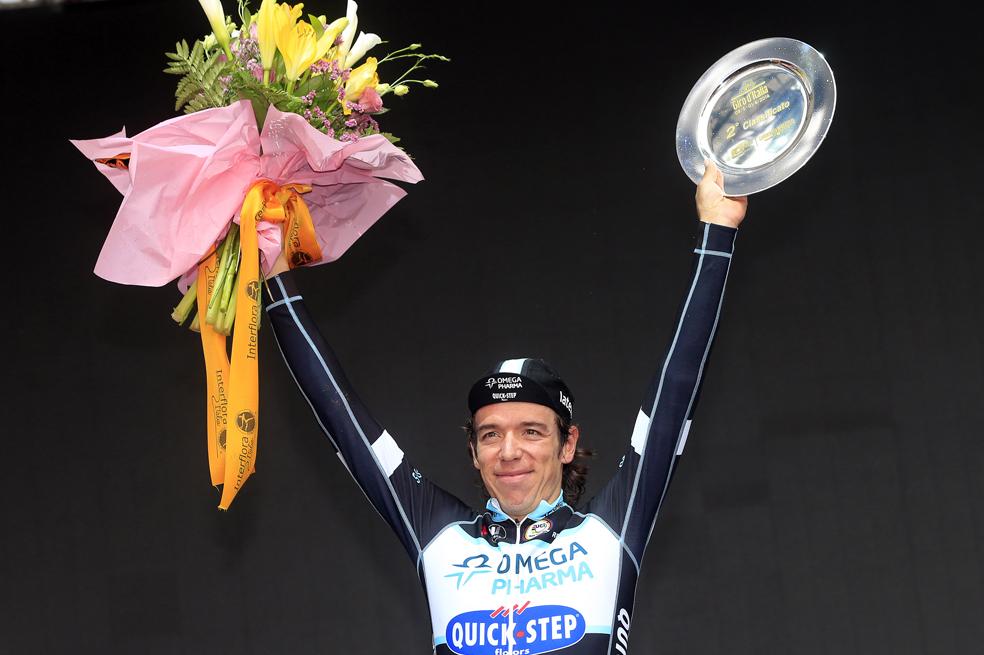 'Rigo' compartió podio con Quintana en aquel Giro soñado de 2014.