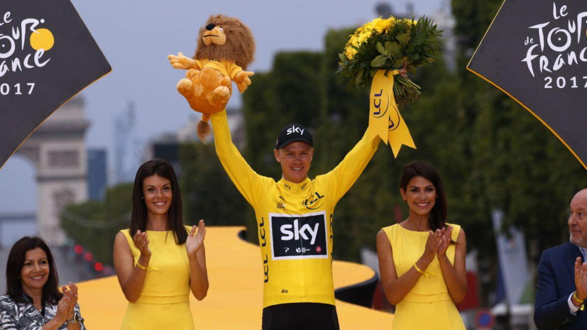 Christopher Froome irá por su quinto titulo en el Tour de France. Egan Bernal será gregario del británico, aunque no se descarta que el colombiano se lleve el protagonismo.