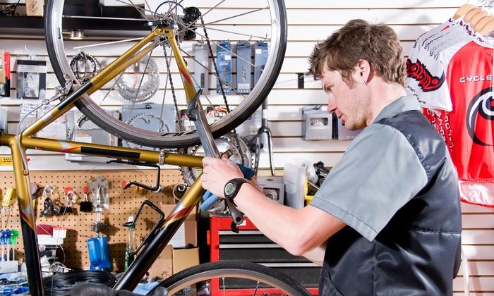 Taller en casa de bicicletas