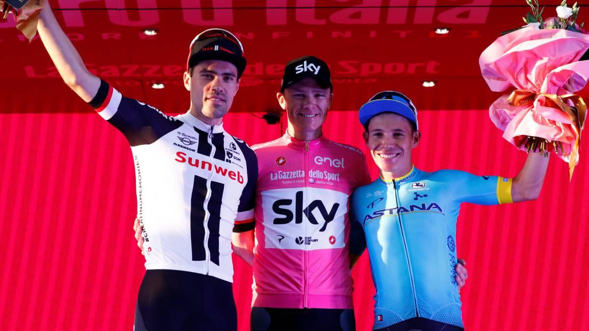 Miguel Ángel López es el tercero del Giro