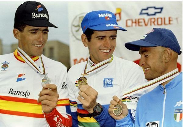 El podio de dos españoles y un italiano