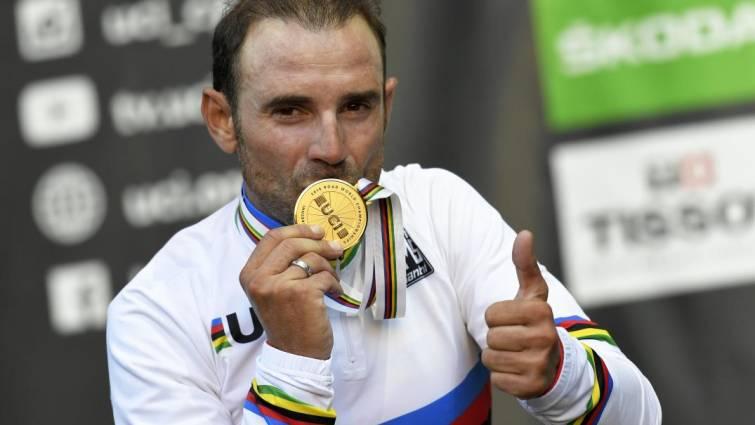 Alejandro Valverde es el nuevo dueño del maillot arcoíris