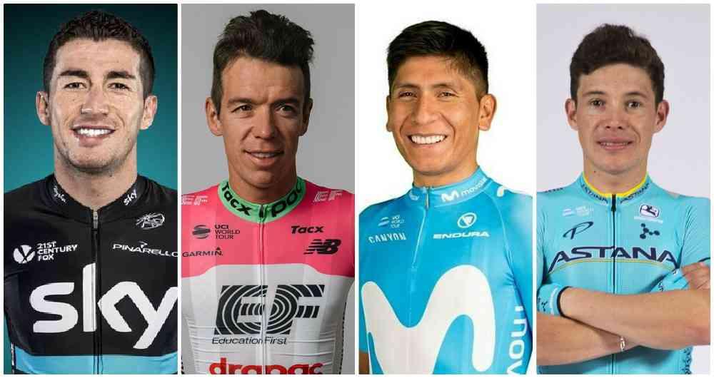 Programese con los corredores colombianos en el Mundial de Ruta