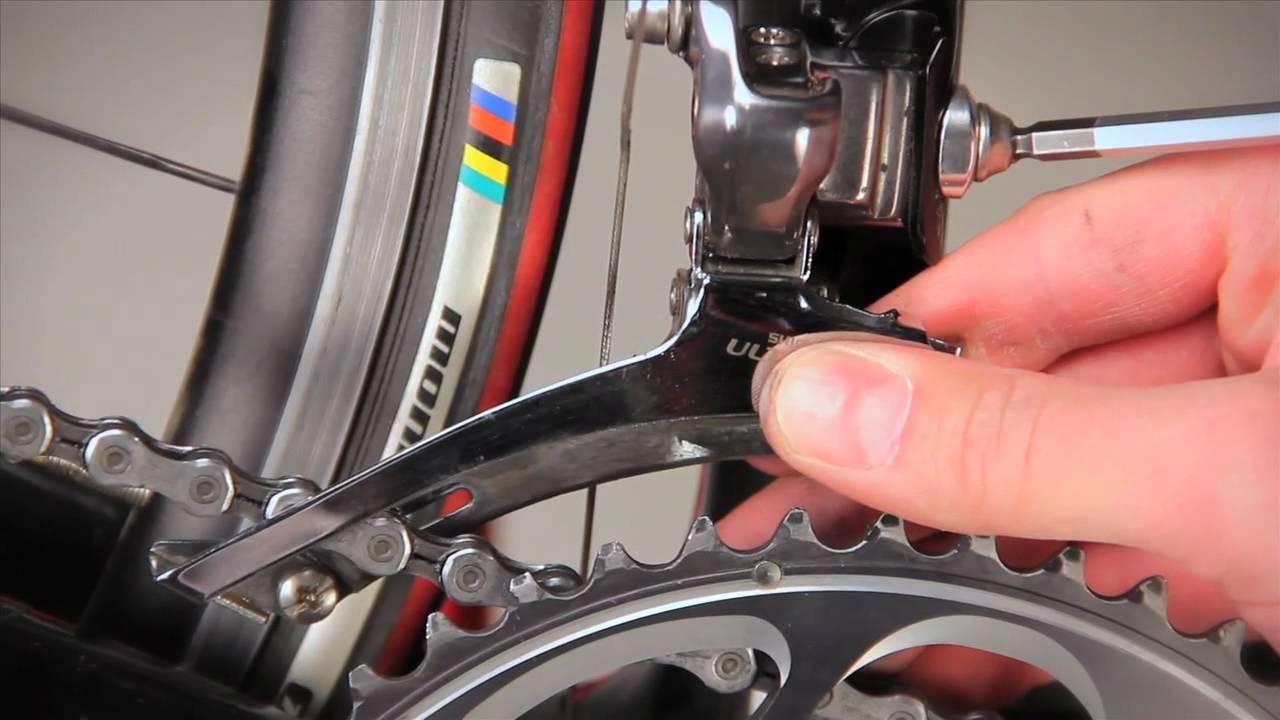 como instalar el descarrilador de una bicicleta