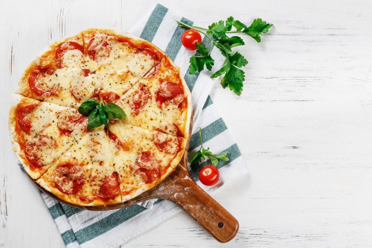 Pizza y ciclismo
