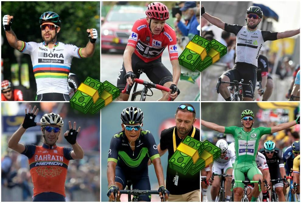 Los ciclistas que más cobraron en 2018