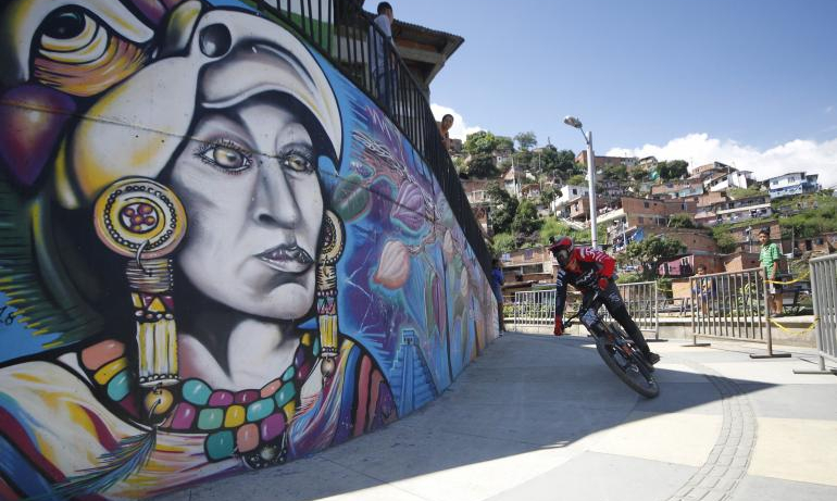 Medellín fue sede del campeonato internacional de Downhill urbano