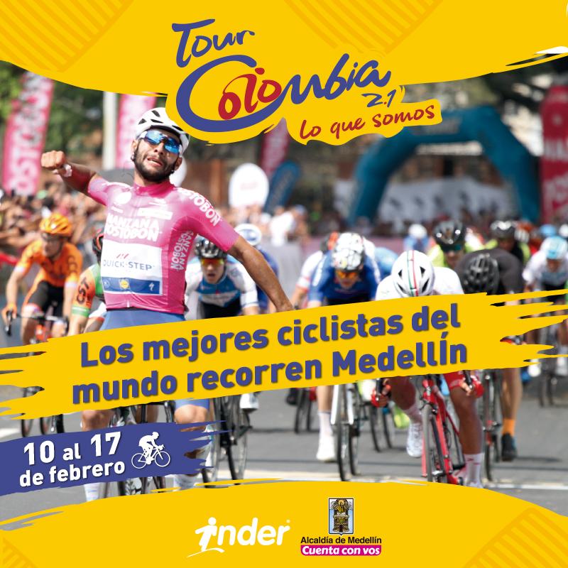 Así luce la postal del Tour Colombia 2.1