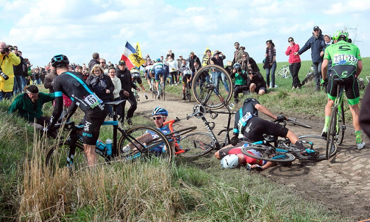 la Paris-Roubaix es un verdadero infierno