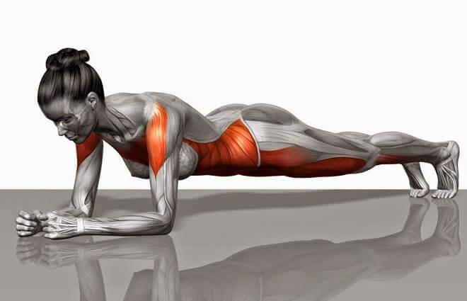 Plancha para fortalecer el core