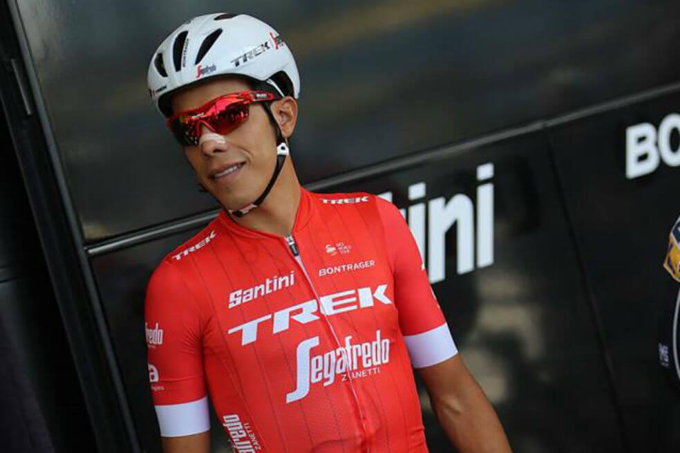 El corredor colombiano suspendido del Trek
