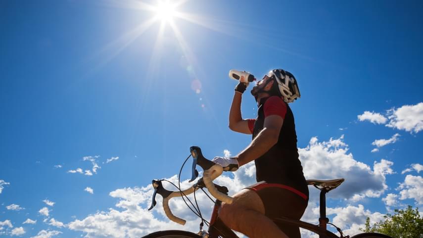 Altas temperaturas en los entrenamientos en bicicleta