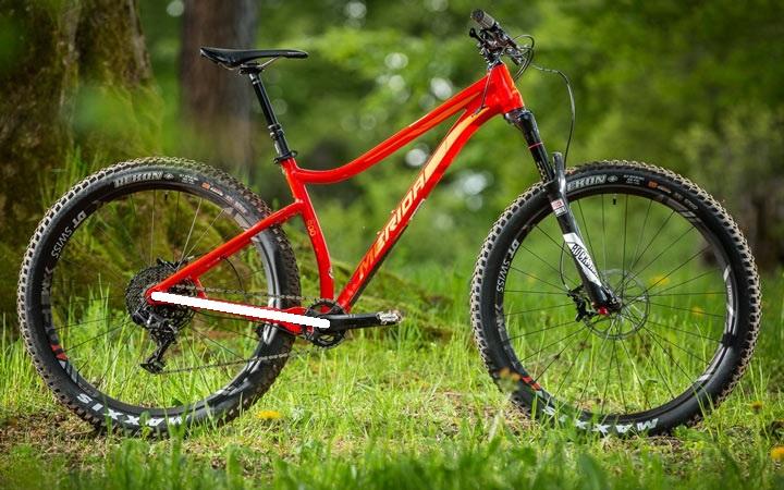Bicicleta, longitud de vainas