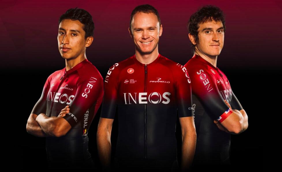 El equipo INEOS estrenará uniforme