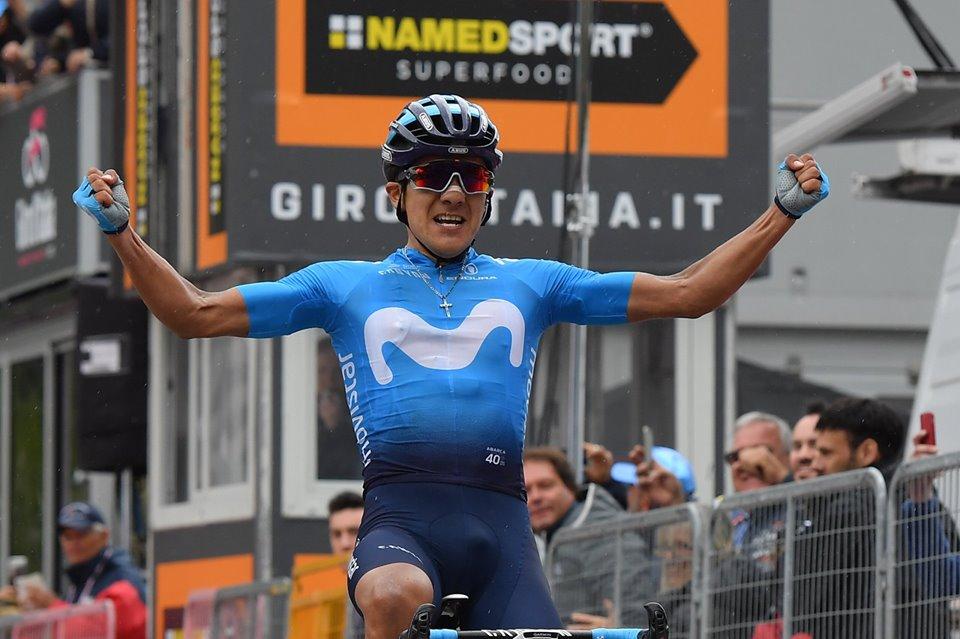 Carapaz venció el sábado en el Giro