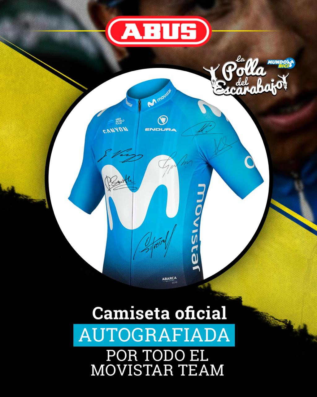 Camiseta del Movistar Team