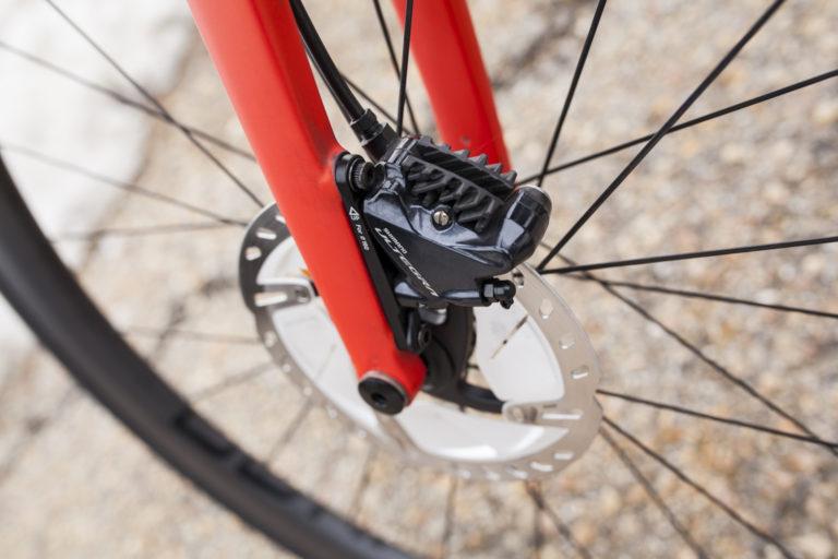 Rodaje de los discos de la bicicleta