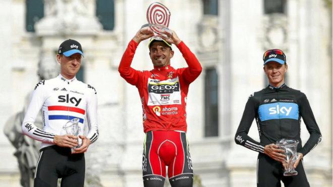 Podio Vuelta a España 2011