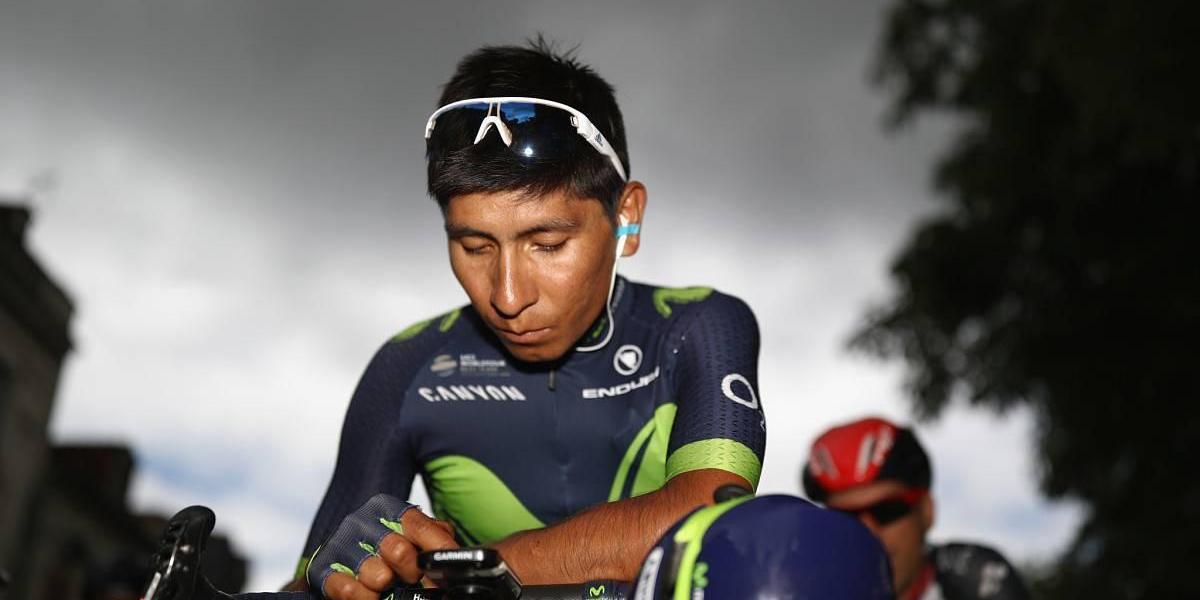 Nairo Quintana afuera del Movistar