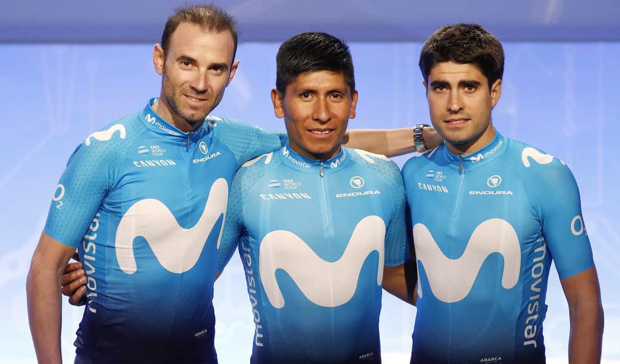 Nairo, Valverde y Landa aparecen amigables