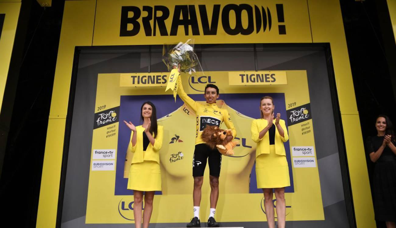 Egan Bernal a punto de ganar el Tour