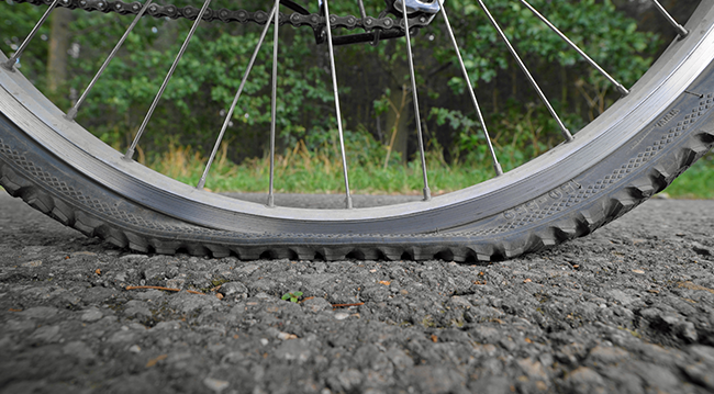 Pinchazo de bicicleta