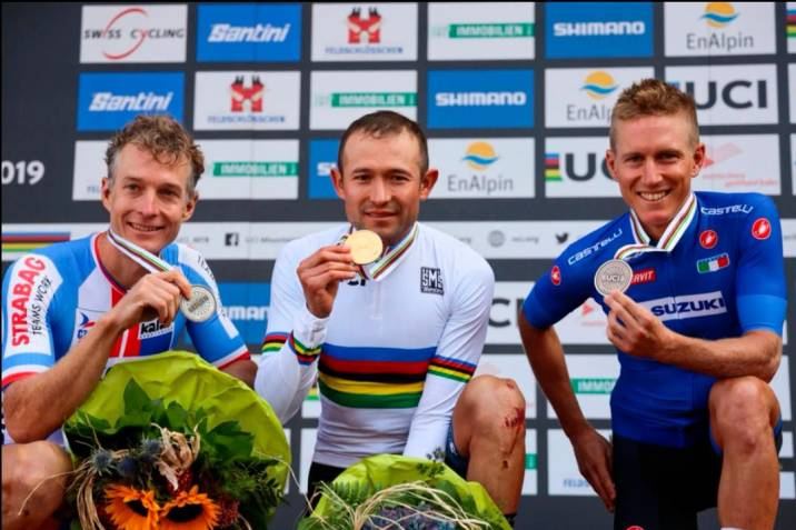 Paéz consiguió el arcoíris con su bicicleta Gian Anthem