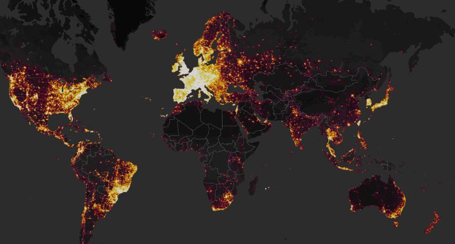 Mapa de calor de Strava