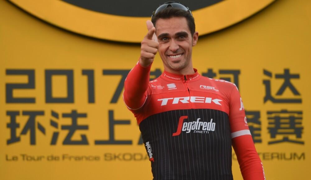 Alberto Contador en el Giro de Rigo 2019
