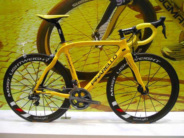 Bici color amarillo
