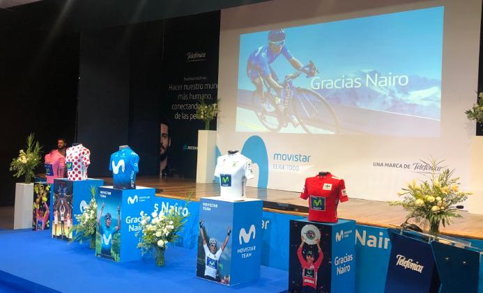 El Movistar rindió homenaje a Nairo