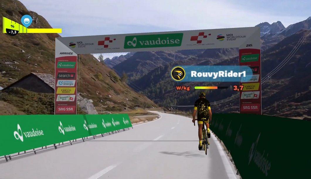 Carrera virtual de ciclismo profesional