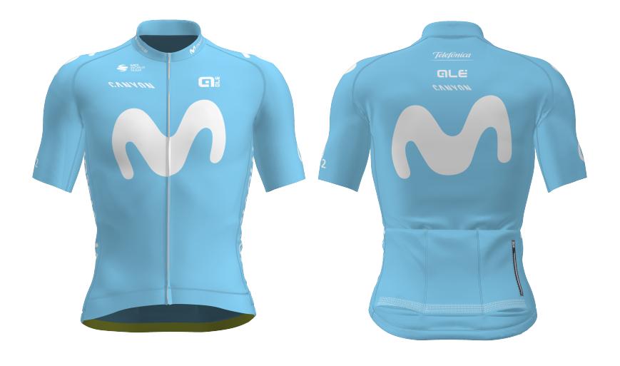 Nuevo maillot del Movistar Team