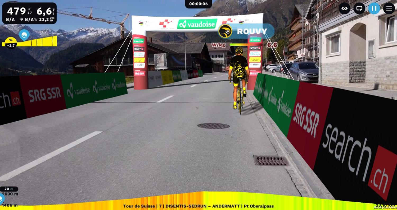 Primera gran carrera virtual de ciclismo