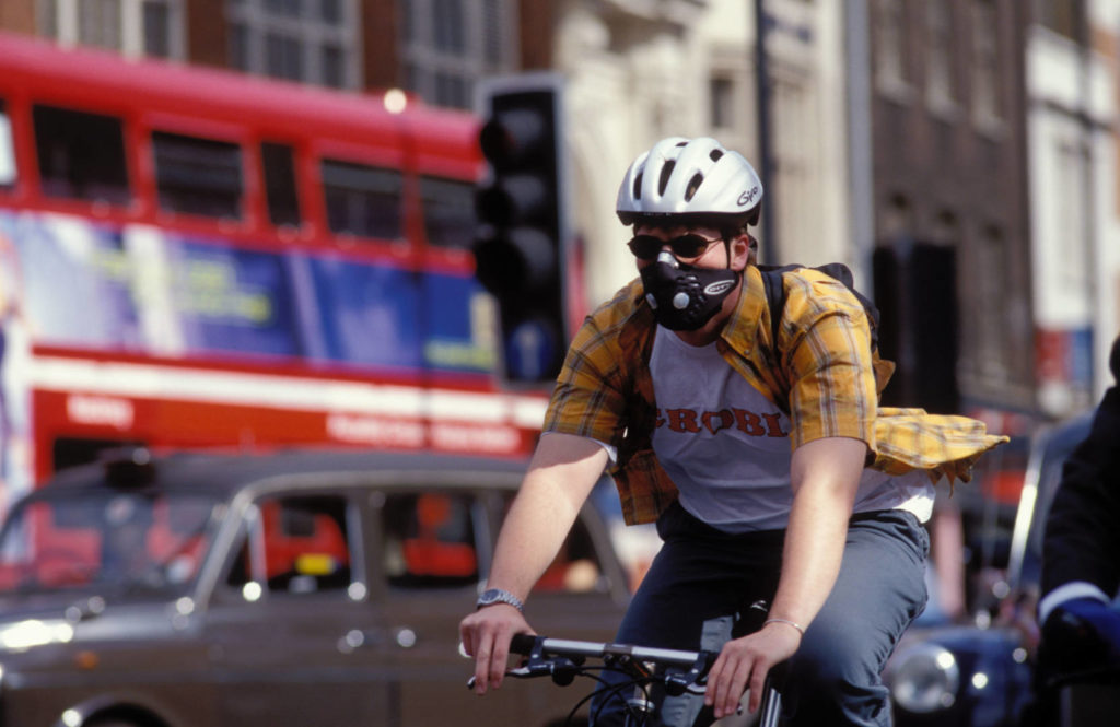 Tapabocas para montar en bicicleta