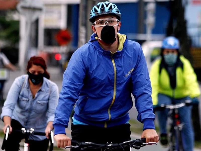 Tapabocas para practicar ciclismo