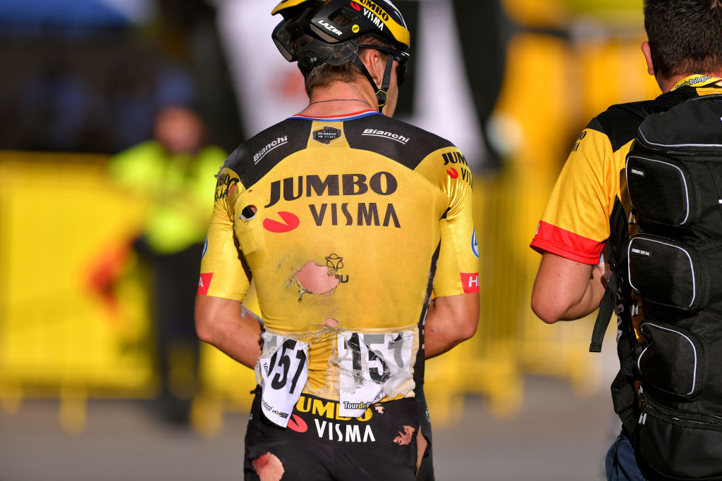 El holandés Dylan Groenewegen, del Team Jumbo-Visma, reconoció que fue el culpable del accidente que sufrió contra las vallas su compatriota Fabio Jakobsen del Deceuninck-Quick Step.