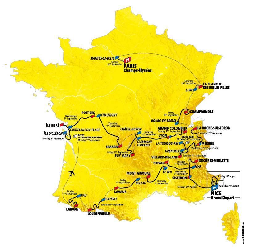 Este sábado 29 de agosto de 2020 arranca oficialmente la edición número 107 del Tour de France