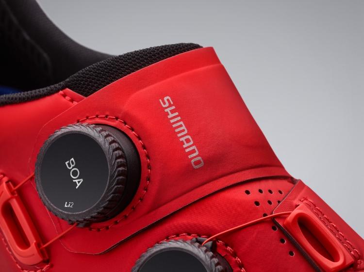 Zapatillas de color rojo