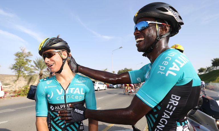 Ciclistas negros en el pelotón mundial
