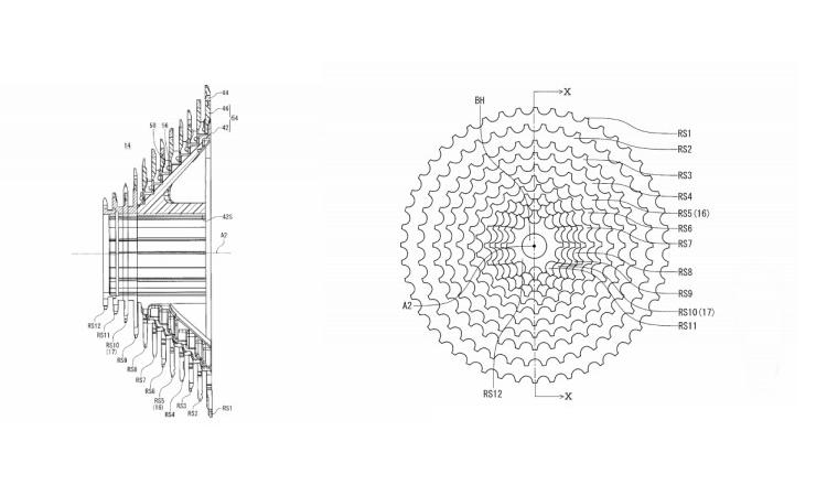 De acuerdo con las patentes registradas por la marca japonesa, es muy probable que en un futuro cercano la nueva actualización del grupo Shimano Dura-Ace sea inalámbrico y de 12 velocidades.