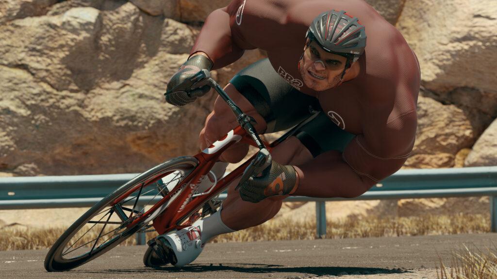 El musculoso ciclista italiano