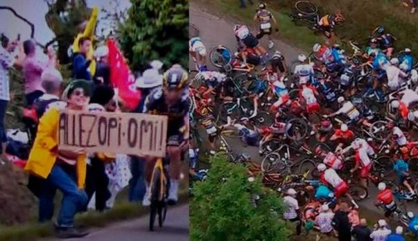 Esta es la pena a la que se enfrentaría la mujer que provocó accidente en el Tour