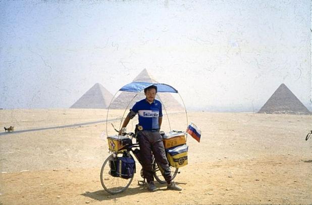 Vladislav Ketov, el ruso que tardó 21 años en darle la vuelta al mundo en bicicleta